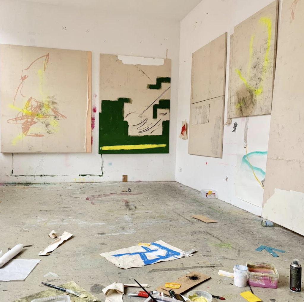 view of Jenny Brosinski's studio in Berlin