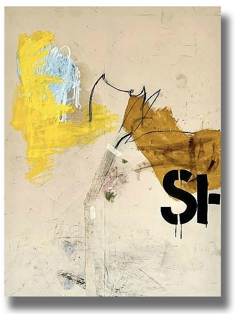 A photograph of a painting by Jenny Brosinski.