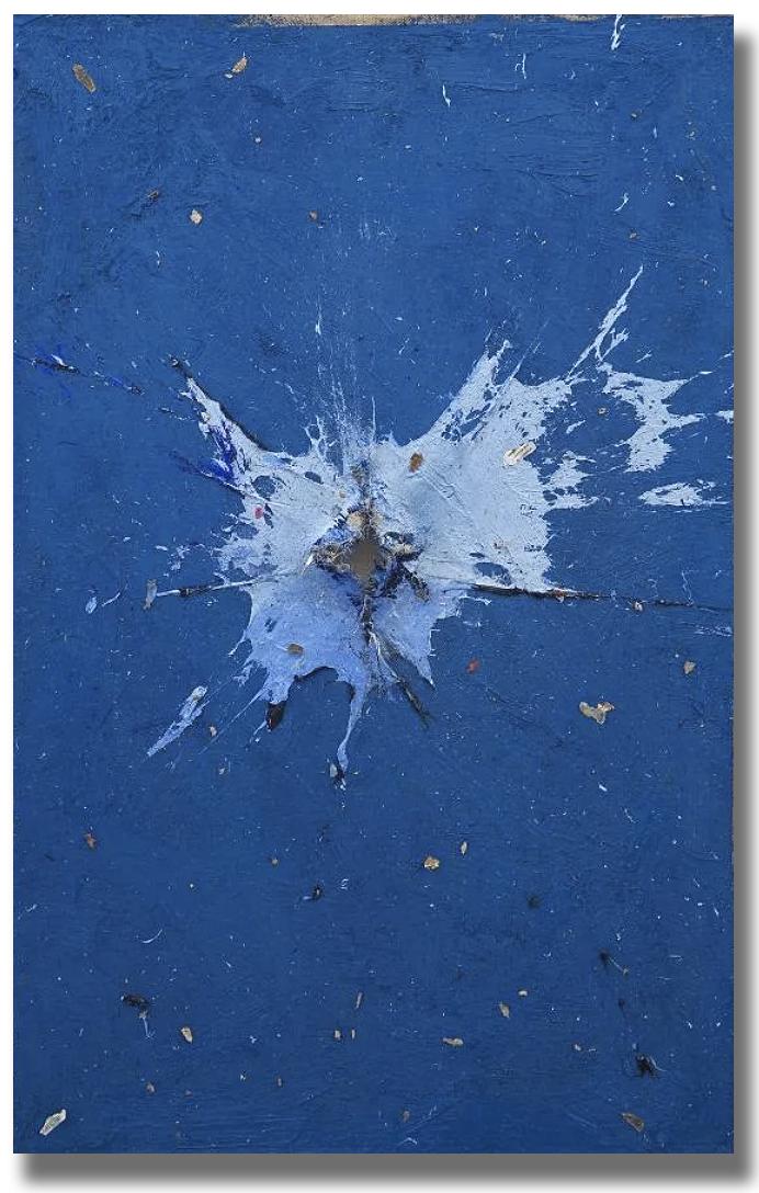Cerulean Blue by Noah Latif Lamp